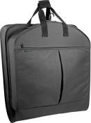 WallyBags 859Black 52 in. Extra Capacity Garment Bag with Pockets