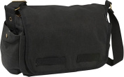 Everest CT-073L-BK 15 in. Cotton Canvas Messenger Bag