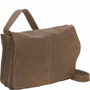 Distressed Leather Quick Access Messenger