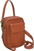 David King& Co 459T Man Bag with Organizer- Tan