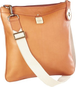 Clava 713TAN Leather Turnlock Cross Body - Tan