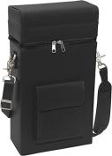 Royce Leather 620-BLACK-8 Connoisseur Wine Carrier - Black