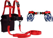 Kids Ski Trainer Kit, Harness, Learn-to-Turn Leashes and Tip Clip