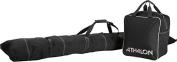Athalon Sportsgear 124Black Athalon Two Piece Ski and Boot Bag Set Black