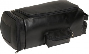 Royce Leather 677-BLACK-10 Golf Shoe and Accessory Bag - Black