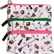 Nine and Wine 3 Zip Bag