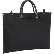 Canvas / Leather Roll-Up Tote