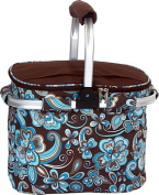 Picnic Plus PSM-148CC Shelby Collapsible Market Tote-Cocoa Cosmos