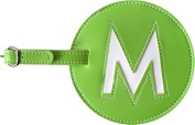 Leather Initial 'M' Luggage Tag Set of 2