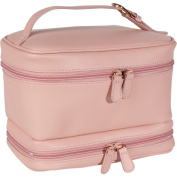 Royce Leather 270-CP-6 Ladies Cosmetic Travel Case - Carnation Pink