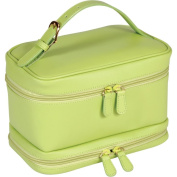 Royce Leather 270-KLG-6 Ladies Cosmetic Travel Case - Key Lime Green