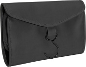 Royce Leather 264-BLACK-11 Hanging Toiletry Bag - Black