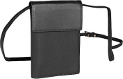 Royce Leather 220-BLACK-5 Deluxe Passport Case With Removable Neck / Shoulder Strap - Black