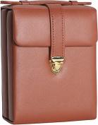Royce Leather 924-TAN-5 Ladies Pocketbook Jewelry Case - Tan