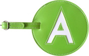 Leather Initial 'A' Luggage Tag Set of Two