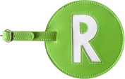Leather Initial 'R' Luggage Tag Set of 2