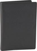 Royce Leather 222-BLACK-5 Passport Currency Wallet - Black
