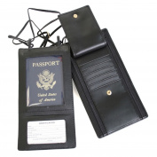 Royce Leather 217-BLK-6 Security Passport Wallet