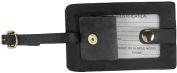 Royce Leather 951-BLACK-5 Snap Luggage Tag - Black