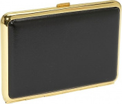 Leather Covered Framed 4 Section Pill Box