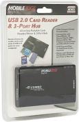 USB 2.0 3-Port Hub & Card Reader/Writer