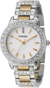 Fossil Ladies 3-Hand Stainless Steel Dual Toned Glitz Watch