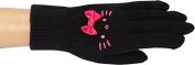 Hello Kitty Black/Pink Face Beanie & Glove Set