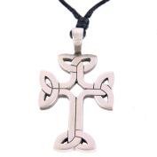Celtic Cross Pewter Pendant - Celtic Knot