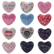 Harmony Patterned Heart 4cm