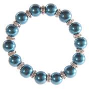 Faux Cobalt Blue Pearl Bracelet