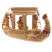 Golden Egyptian Canopy Boat