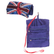 Union Jack UK Flag Sequin Roll Bag 23 x 19cm