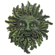 Greenman Wall Plaque, Spring Green