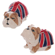 Union Jack British Bulldog Salt & Pepper Set