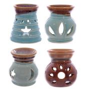 Small Ceramic Cut-Out Design Oil Burner 8cm