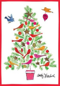 Warhol Christmas Tree Holiday Notecards [With Envelope]