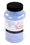 De-Stress Therapy Bath Salts -19 Oz- Therapeutic Natural Mineral Crystals for Relaxation, Calming, Relief for Hottub, Spa, Bath