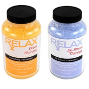Detox & Stress Therapy Aromatic Bath Minerals, Salts, & Vitamins - 560ml Crystals - Body Soak or Scrub for Shower, Tub, Spa