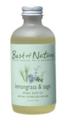 Lemongrass & Sage Bath Oil - 120ml - 100% Pure
