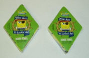 2 Nickelodeon Spongebob Squarepants Magic Pop Up Towels - Pirates
