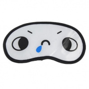 Rosallini 2 Pcs Nylon Cartoon Sleeping Eye Cover Mask Eyeshield White