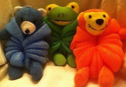 Children Body Pouffe Net Sponge Terry Cloth Animal Varied