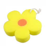 Amico Bathroom Flower Shaped Orange Body Massage Washing Cleaner Bathing Bath Sponge