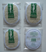 . 4 Touch Me 7.6cm x 10.2cm Natural Loofah / Terry Facial Complexion Pad