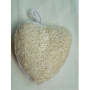 Cute Luffa Sponge Skin Scrubber (Heart Shape) - shower, bath, beauty, skin care, spa.