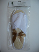 Touch Me Natural Loofah Spa Massage Slippers Set of 2 pairs
