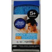 Spongeables Body Wash In a Sponge For Men 5+ Showers Bath Sponges