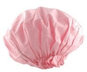 Spa Sister Bouffant Shower Cap, Pink.