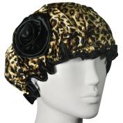 Kella Milla . Satin Shower Cap - Brown Leopard