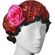 Kella Milla . Satin Shower Cap - Red Glitter & Rose